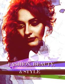 Модный постер в Фотошоп