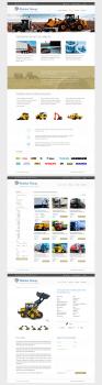 Дизайн сайта по продаже спецтехники, запчастей