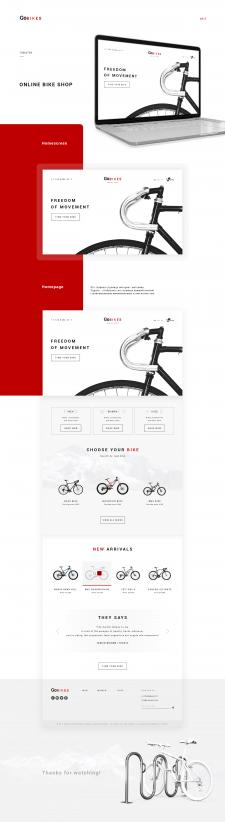 Главная страница для интернет-магазина велосипедов