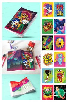 Обложка и дизайн тетради для детей