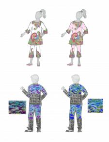Эскиз для детской одежды  (ярко, необычно)