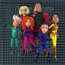 3д персонажи - супер герои