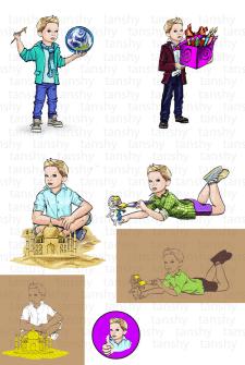 Персонаж мальчик для наборов детского творчества