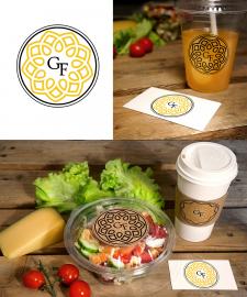 """Логотип для компании доставки еды """"Golden flower"""""""
