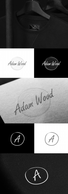 "Logo for ""Adam Wood"" Clothing Company"