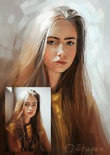 Портрет девушки по фото