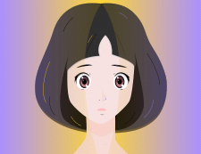 Vector illustration of an anime girl