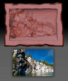 3D моледь по фото для сувенирки КАРЕЛЛИЯ