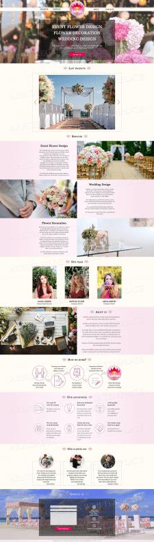 Дизайн сайта для Компании по декору цветами