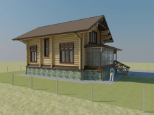 Визуализация экстерьера частного деревянного дома