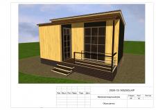 Проект мобильного каркасного модульного дома.