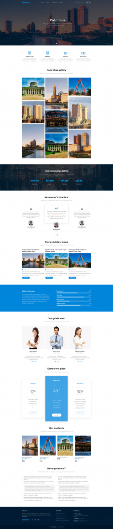 Columbus wordpress template
