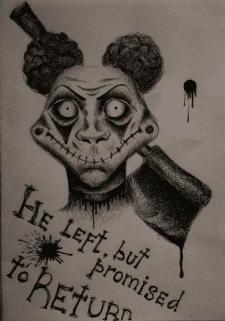 He left