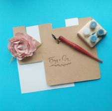Каллиграфическая подпись коробочек для свадьбы