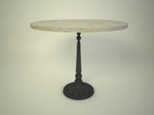 3Д столик из мрамора круглый