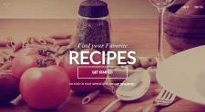 Верстка макета для сайта рецептов