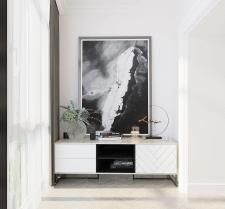 Дизайн спальни в современной классике(балкон)