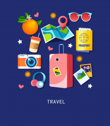 Travel icons in vector.