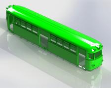 Трамвай  ЛМ57 масштабная мастер-модель