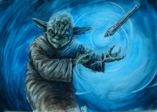 Yoda in watercolor