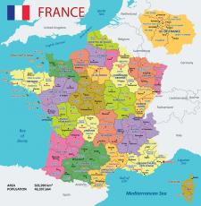 Географические карты стран и плакаты