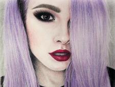 Цветной портрет девушки