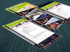 Дизайн сайта для детских праздников