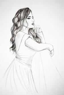 Мечтающая девушка