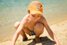 Детская фотосессия - море (коррекция цвета)