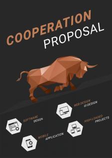 Дизайн обложки для PDF-презентации компании