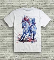 Рисунок для печати на футболке. Дикие лошади