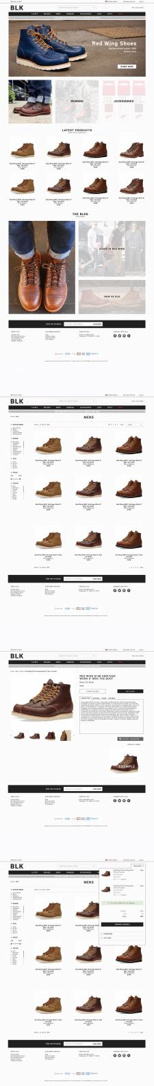 Интернет магазин  обуви BLK