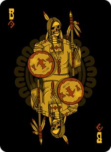 Spielkarten Indians- Skelette6
