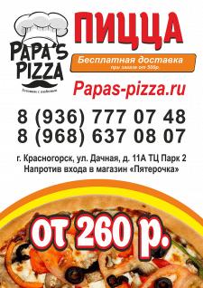 Постер-баннер пицца