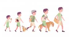 """Иллюстрация """"Эволюция подростка"""""""