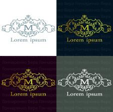 """Логотип с буквой """"М"""". Вектор"""