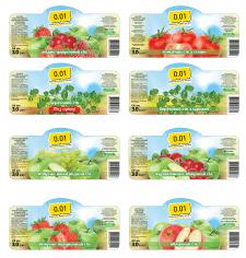 Серия этикеток на соки для ТМ Копейка