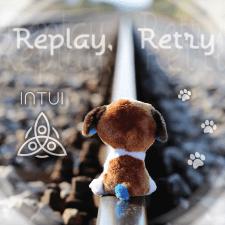 """Обложка сингла рок-группы - """"Replay, Retry"""""""