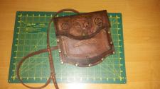 Кожаная сумка Валькнут