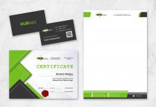 Визитка, фирменный бланк и сертификат