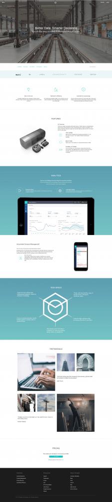Дизайн и верстка сайта стартапа