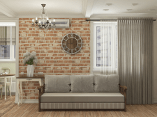 Однокомнатная квартира со спальней
