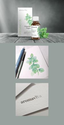 Дизайн упаковки косметического масла.