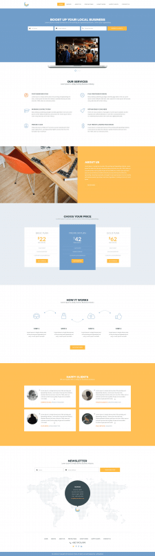 Верстка Landing Page по PSD-макету - 2