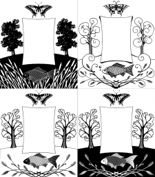 варианты эскизов к обложке книги