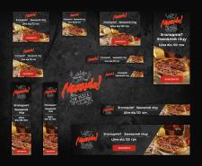 Баннеры ремаркетинга для сетей пиццерий Mamamia