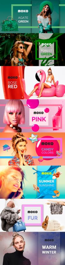 Баннера для сайта бренда гель-лаков MOKO