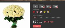 Разработка и вёрстка сайта цветов