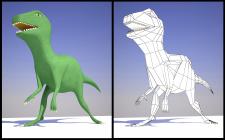 Низкополигональная модель динозавра