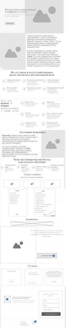 """Копирайтинг для лендинга """"Публичные выступления"""""""